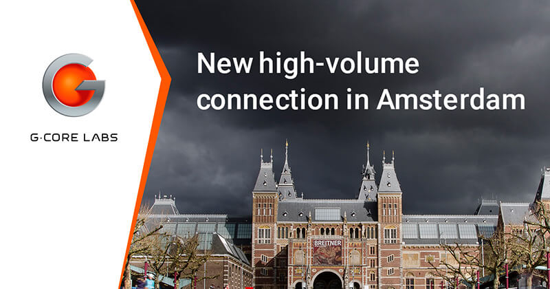 New high-volume connection in Amsterdam