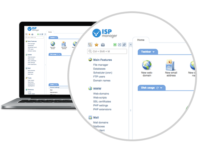 Web hosting & Linux server control panel ISPmanager